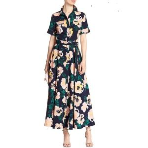 Banana Republic 6 Floral Maxi Dress SS Belted